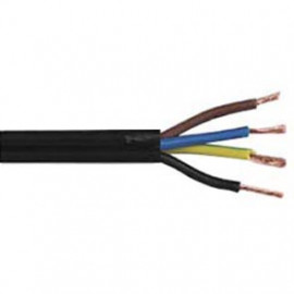 10 Meter Rundleitung, 4G x 0,75²mm H03 VV-F, schwarz, inkl. CU