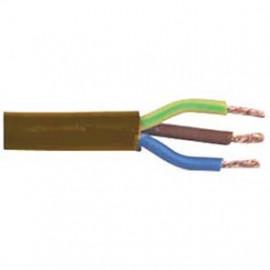 10 Meter Rundleitung, 3G x 1,5²mm H05 VV-F, braun, inkl. CU