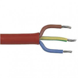 50 Meter Silikonkabel, 3G x 1,5²mm SiHF, rot/braun, inkl. CU