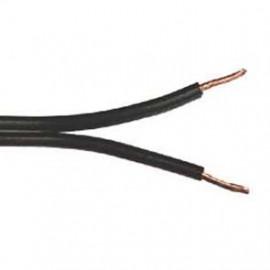 50 Meter Zwillingsleitung, 2 x 0,75²mm H03 VH-H, schwarz, inkl. CU