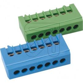 Neutralleiter Klemme für Normschiene, grün 16 mm² Anschluß 7-polig - Pollmann