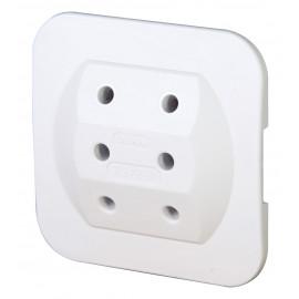 Mehrfachstecker Schutzkontaktstecker Adapter, superflach, weiß