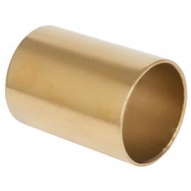 Verbindungshülse, Metall gold für Kabelrohr, für Schalterprogramm Atlantis Pozellan weiß