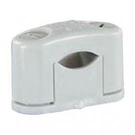 25 Stück SOM Kabelschelle, grau, halogenfrei für Kabel-Ø 15 - 25 mm