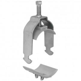 50 Stück Bügelschelle für C30 - Stahl verzinkt Spannbereich Ø 48 - 58 mm