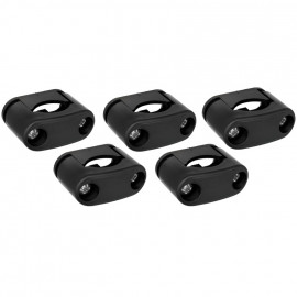 Kabelschellen Set, 5 Kabelschellen, schwarz, für Kabel-Ø 10 - 17 mm, THPG