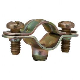 Rohrabstandsschelle mit Gewinde M 6, Größe M 40 Stahl galvanisch verzinkt