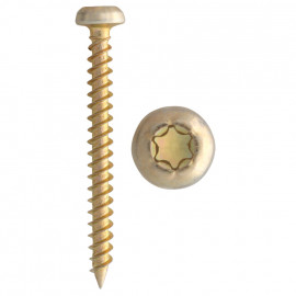 200er Packung GOLDEN SPRINT Schraube, Torx Ø 5,0 x 40 mm, T25