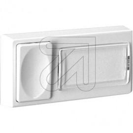 Klingeltaster Aufputz Kunststoff, mit Namensschild, Höhe 15mm
