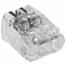 100 Stück Steckklemme, SDKF, 2-polig, von 0,02² bis 2,5²mm, transparent