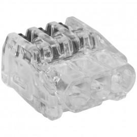 10 Stück Steckklemme, SDKF, 3-polig, von 0,02² bis 2,5²mm, transparent