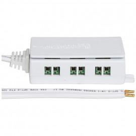 NV / LED Verteiler, schraubbar, mit Anschlusskabel und 6 Ausgängen Rutec