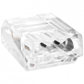 100 Stück Steckklemme, 3-polig, für Leiter bis 2,5², transparent - Wago