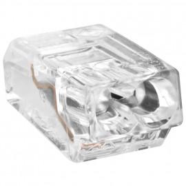 100 Stück Steckklemme, 2-polig, für Leiter bis 2,5², transparent - Wago