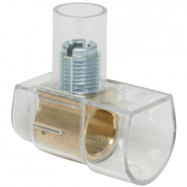 Endklemme, BOXLINE, transparent, 1-polig, 35 mm², einseitig geschlossen