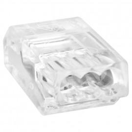 10 Stück Steckklemme, 3-polig, für Leiter bis 1,5², transparent - Wago