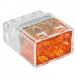 100 Stück Steckklemme, 3-polig, für Leiter von 1,0² bis 2,5², transparent - Klein