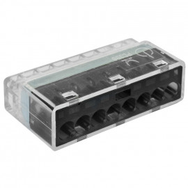 40 Stück Steckklemme, 8-polig, für Leiter von 1,0² bis 2,5², transparent - Klein