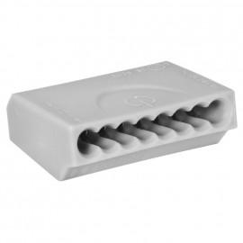 10 Stück Steckklemme, 8-polig, für Leiter von 0,75² bis 1,5²mm , grau - Klein