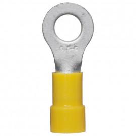 100 Stück Ringkabelschuh, PVC Isolation, für Kabel-Ø 4 - 6²mm  Anschluss 6 mm gelb