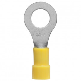 100 Stück Ringkabelschuh, PVC Isolation, für Kabel-Ø 4 - 6²mm  Anschluss 4 mm gelb