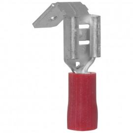 100 Stück Flachsteckhülse mit Abzweig, für Kabel Ø 0,5 - 1,5²  Anschluss 6,3 x 0,8 mm Rot