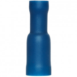 100 Stück Rundsteckhülse, für Kabel Ø 1,5 - 2,5²mm  Anschluss 5 mm Blau