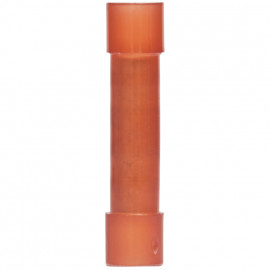 100 Stück Stoßverbinder, für Kabel Ø 0,5 - 1,5²mm mit PVC-Isolation Rot