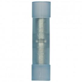 100 Stück Stoßverbinder, für Kabel Ø 1,5 - 2,5²mm mit PVC-Isolation Blau