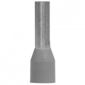 50 Stück Aderendhülse mit Isolierstoffkragen, für 1 Eingang Ø 4²mm Länge 17 mm grau