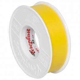 Coroplast PVC Isolierband Breite 15 mm, Länge 10 m Farbe gelb