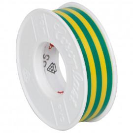 Coroplast PVC Isolierband Breite 15 mm, Länge 10 m Farbe grün/gelb