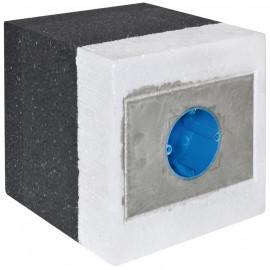 Dämmblock, Gerätedose, 1-fach, 100 - 140 mm - F-tronic