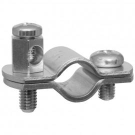 Erdungsrohrschelle, Bandeisen verzinkt, Größe 1/4 Zoll, für Rohr-Ø 10-12 mm