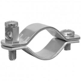 Erdungsrohrschelle, Bandeisen verzinkt, Größe 3/4 Zoll, für Rohr-Ø  25-28 mm