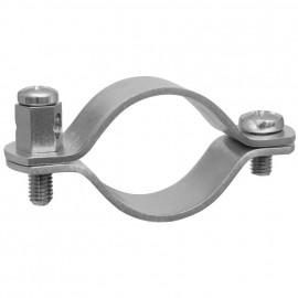 Erdungsrohrschelle, Bandeisen verzinkt, Größe 1 Zoll, für Rohr-Ø 30-36 mm