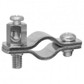 Erdungsrohrschelle, für Kupferrohre Größe 1/4 Zoll, für Rohr-Ø 10-12 mm