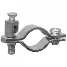 Erdungsrohrschelle, für Kupferrohre Größe 3/8 Zoll, für Rohr-Ø 15-18 mm