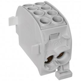 Unterverteiler Abzweigklemme, 1-polig, 2 Eingänge 35 mm² und 2 Ausgänge 25 mm² grau