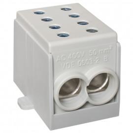 Hauptleitungs Abzweigklemme 1 p. 2 Eingänge 25 mm² 4 Ausgänge 16 mm² grau verzinnt