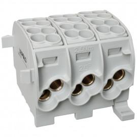 Hauptleitungs Abzweigklemme, je Block 2 Eingänge 25 mm² und 2 Ausgänge 16 mm² grau