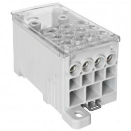 Phasenverteilerblock, 400A, 2 Eingänge und 11 Ausgänge - Pollmann