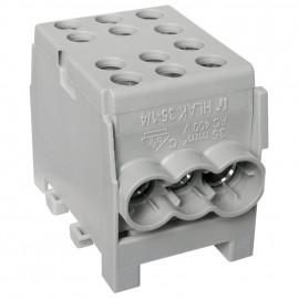 Hauptleitungs Abzweigklemme 1 p. 2 Eingänge 35 mm² und 4 Ausgänge 25 mm² grau verzinnt