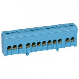 Neutralleiter Klemme für Normschiene, blau 16 mm² Anschluß 12-polig - Pollmann