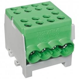 Hauptleitungs Abzweigklemme 1 p.2 Eingänge 35 mm² / 6 Ausgänge 16 mm² grün verzinnt