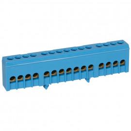 Neutralleiter Klemme für Normschiene, blau 16 mm² Anschluß 15-polig - Pollmann