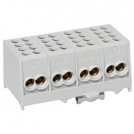 Hauptleitungs Abzweigklemme grau 4-polig Block 2 Eingänge 35 mm² 2 Ausgänge 25 mm²