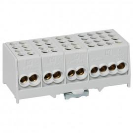 Hauptleitungs Abzweigklemme grau 2 Eing. 25 mm²  2 Ausg. 16 mm², 4-polig 6 Mp-A