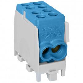 Hauptleitungs Abzweigklemme, 1-polig, 2 Eingänge 25 mm² 2 Ausgänge 16 mm² blau