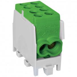 Hauptleitungs Abzweigklemme, 1-polig, 2 Eingänge 25 mm² 2 Ausgänge 16 mm² grün